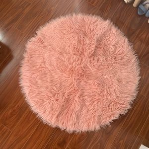 Other - Pink Faux Fur Accent Rug 🐰 3'x3'